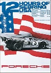 Porsche Postkarte - 12 Stunden Von Sebring 1971