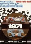 Porsche Postkarte - Rennplakat Welmeister 1971