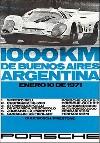 Porsche Postkarte - 1000 Km Buenos Aires 1971